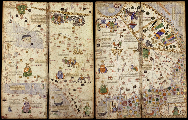 Atlas Map Of Asia.Map Of Asia From The Catalan Atlas Attributed To Cresques