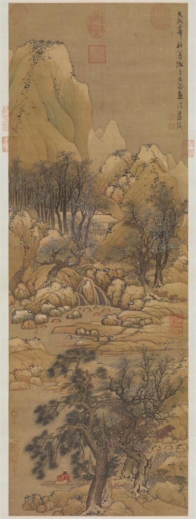 明藍瑛溪山雪霽 軸