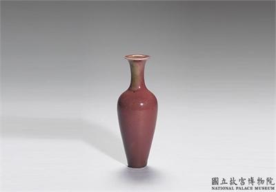 清 康熙 豇豆紅柳葉瓶