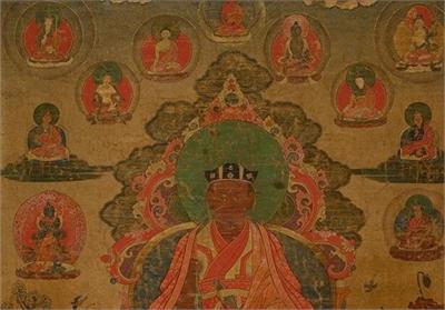 西藏十七世紀噶瑪拔希大寶法王唐卡