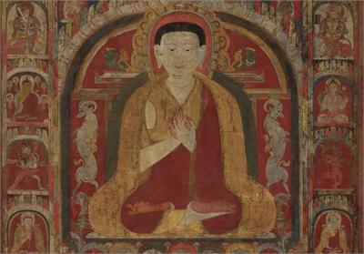 十三世紀 西藏達壟寺堪布札希貝唐卡
