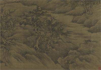 五代 巨然 溪山林藪圖