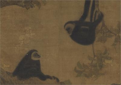 宋人 枇杷猿戲圖