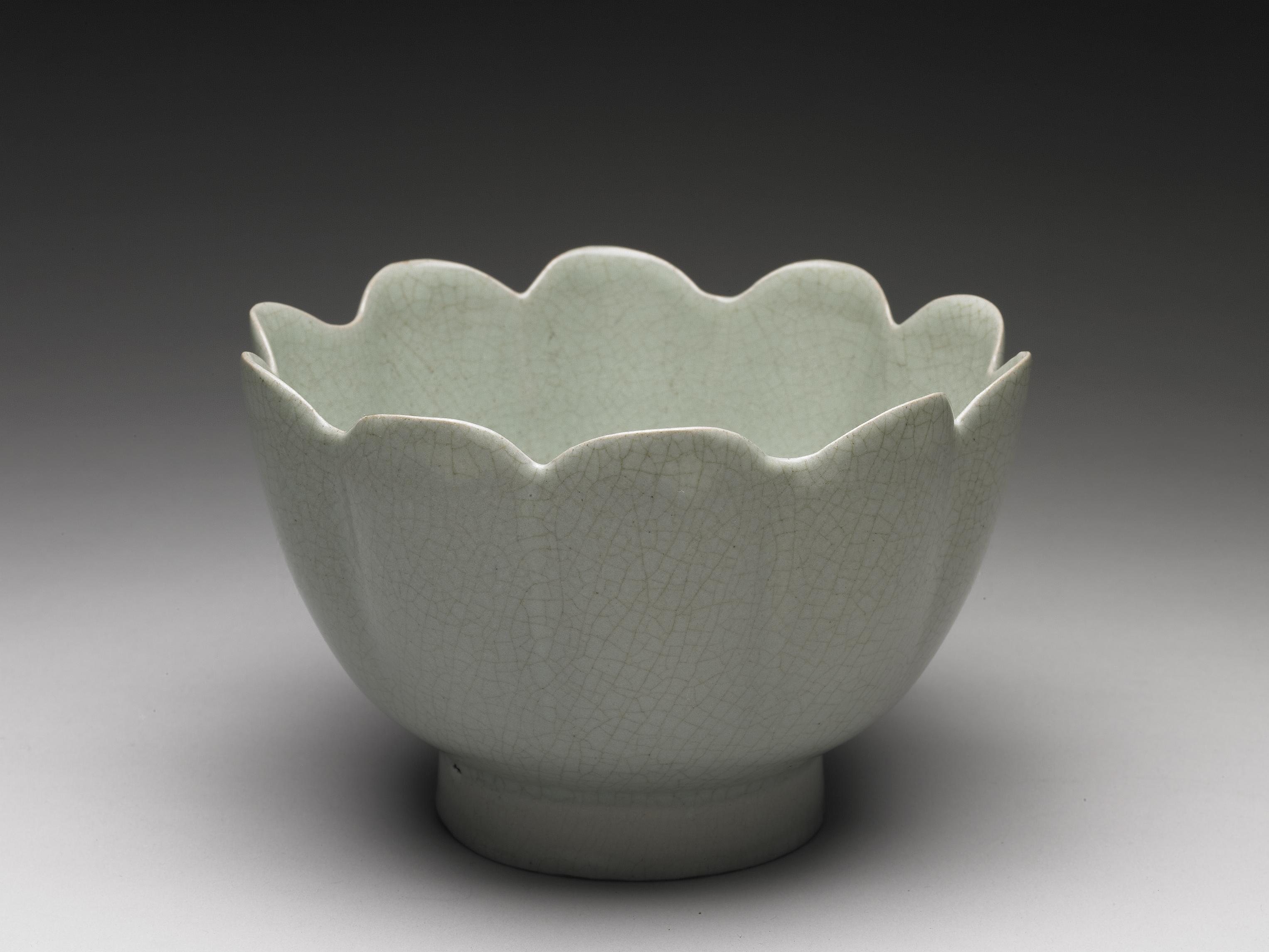 汝窯 青瓷蓮花式溫碗