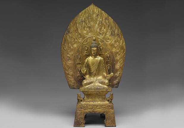 青銅鍍金釋迦牟尼佛坐像