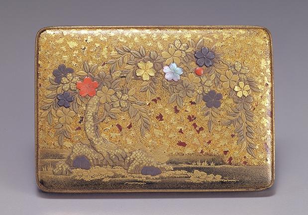 櫻蒔繪方形小套盒