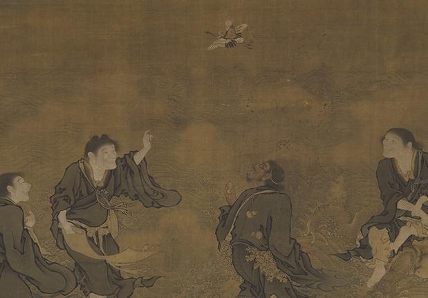 明 商喜 四仙拱壽圖