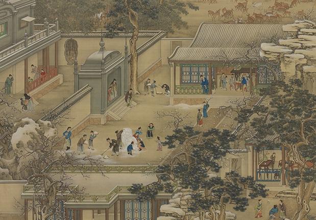 清 畫院 畫十二月月令圖 十二月