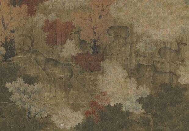 Herd of Deer in an Autumnal Grove