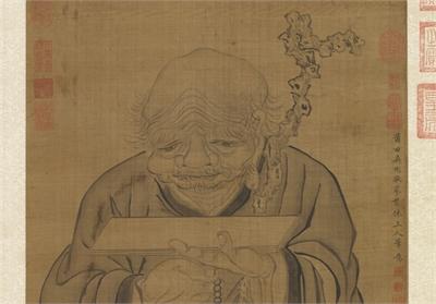 明吳彬畫羅漢(第一阿迎阿機達尊者) 軸