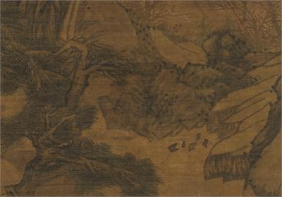 明林廣春山圖 軸