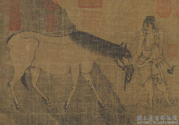 唐韓幹洗馬圖 軸