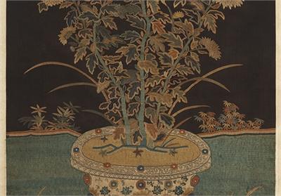 宋繡菊花簾(一)
