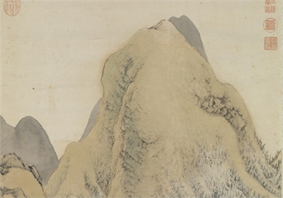 明 張宏 石屑山圖 軸