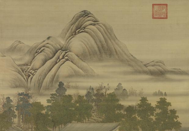 清 畫院 畫十二月月令圖 七月