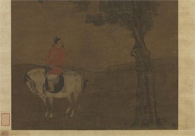 元 趙雍 春郊遊騎圖