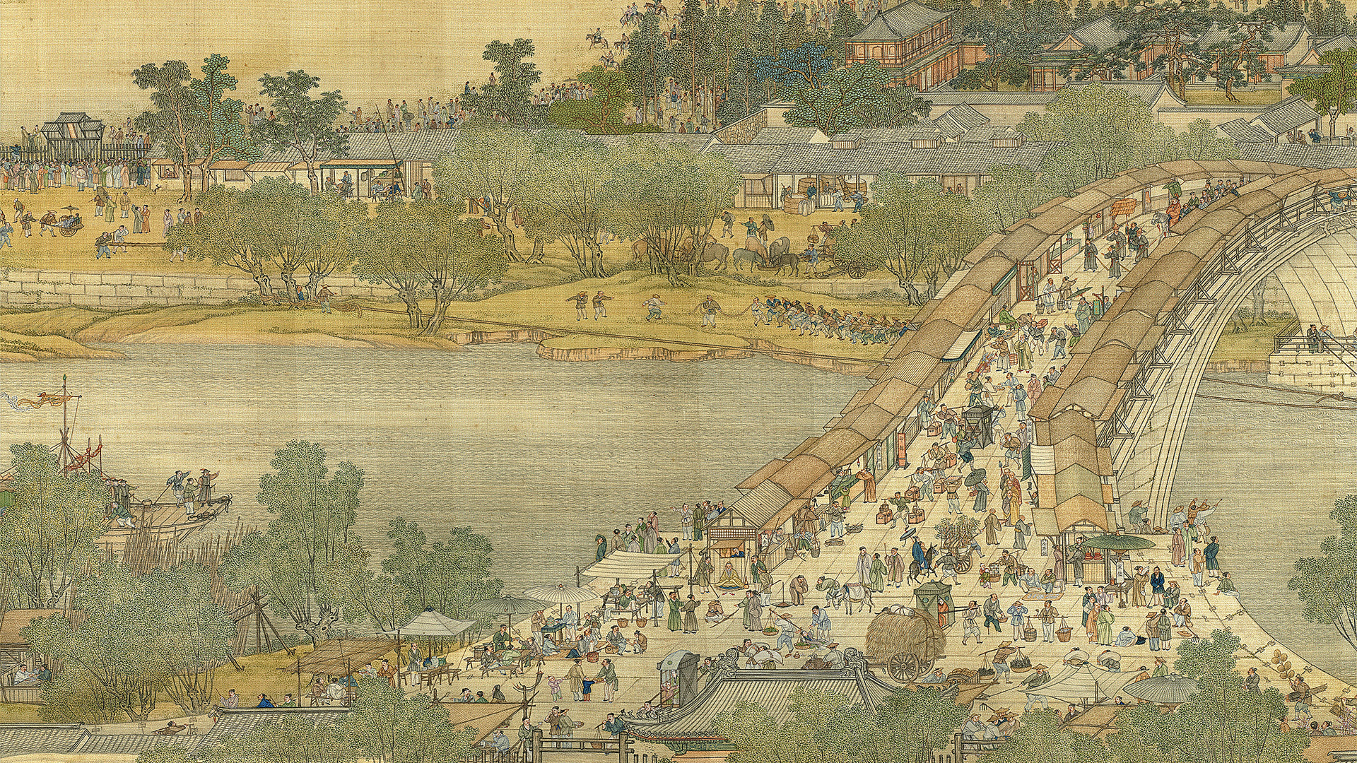 Painting Anime: Up the River During Qingming