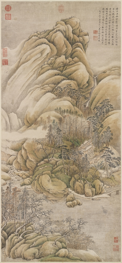 """After Wang Wei's """"Snow Over Rivers and Mountains"""""""