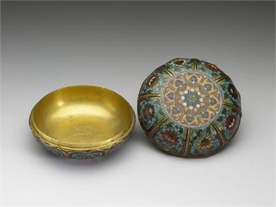 Cloisonne Box with Lotus Decoration