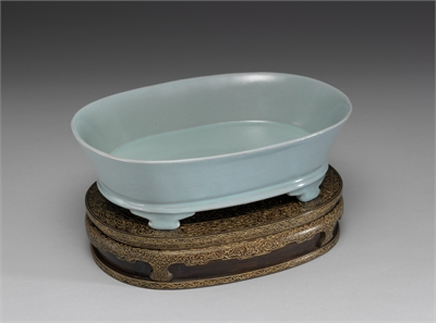 Narcissus basin in bluish-green glaze, Ru ware