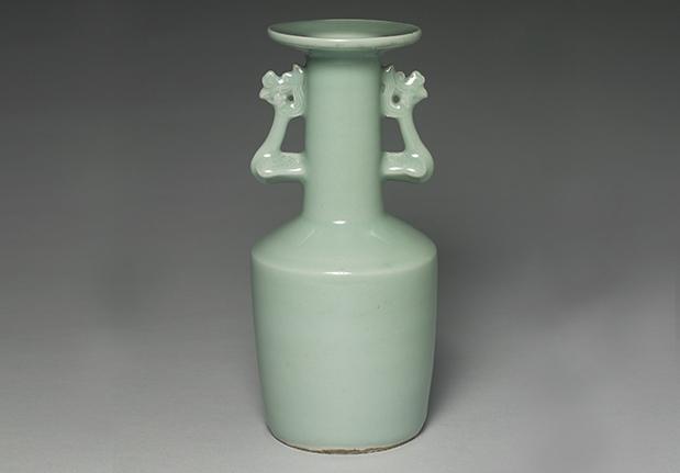 龍泉窯 青瓷鳳耳瓶