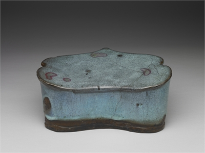 Chun Ware Pillow in the Shape of a Ju-i