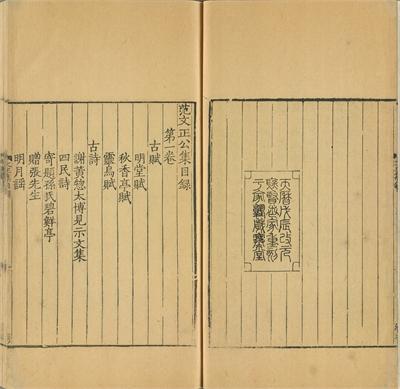 Literary Collection of Fan Zhongyan