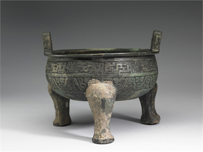 Ting with Coiled Serpent Pattern