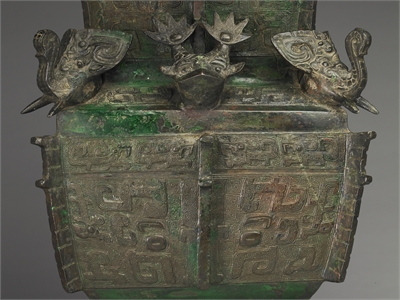 Square Zun wine vessel of Ya-chou