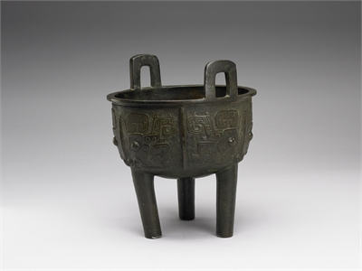 Ting Vessel with Inscription of the Zhenghe period