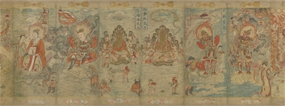 Scroll of Buddhist Images