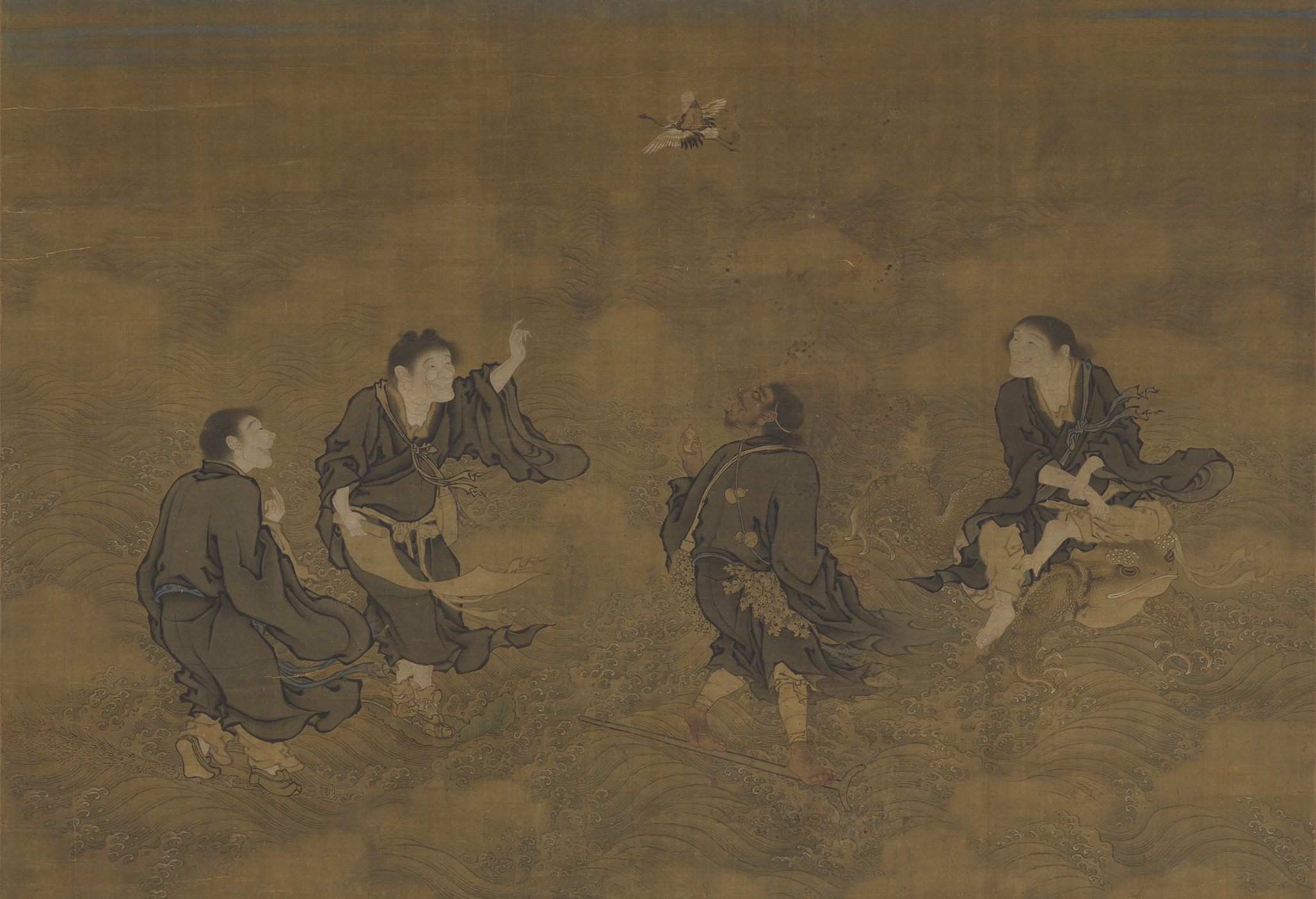 Four Immortals Paying Homage to Longevity