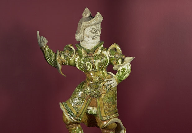 Sancai figure of a Lokapala, Guardian King