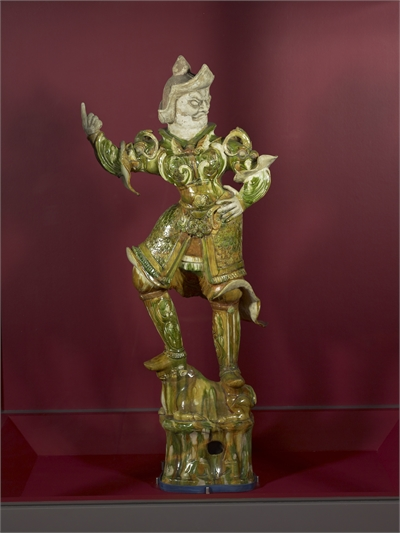 Sancai figure of a Lokapala, Guardian King