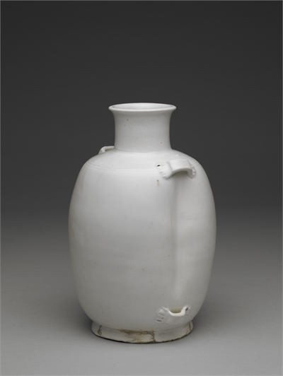 White porcelain vase with loops