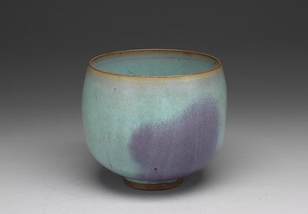 天藍釉紫斑盂