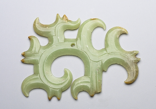 Jade Hooked Cloud-shaped Pei Ornament
